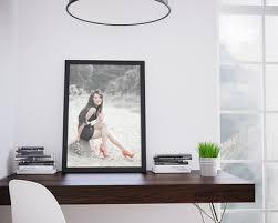 cadre photo bureau montage photo cadre moderne sur bureau pixiz
