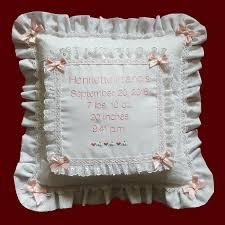 Personalized Keepsake Personalized Keepsake Baby Eyelet Pillow Pillows Smocked