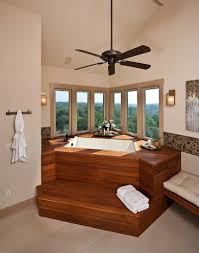 30 creative ideas to transform boring bathroom corners inset tub and corner windows put the emphasis on view outside design authentic