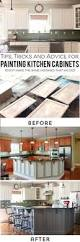 Painting Kitchen Cabinets Before And After by How To Easily Paint Kitchen Cabinets You Will Love Tutorials