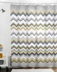 Grey And Yellow Shower Curtains Grey Black And White Chevron Shower Curtain
