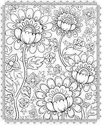 printable paisley flower pattern coloring pages print