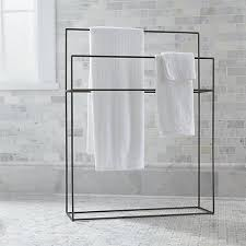 Crate And Barrel Shower Curtains Jackson Standing Towel Rack Crate And Barrel