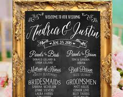 chalkboard wedding program template pretty custom signs for weddings and more by beautiedaffair