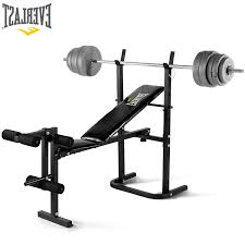 weight and bench set everlast foldable weight bench 40kg barbell weight set amazon