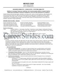 Communication Skills Resume Example by Business Analyst Resume Seeking To Leverage Technical Analytical