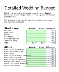 wedding budget planner budget planner 12 free excel pdf documents free