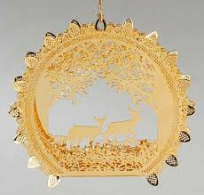 danbury mint 2000 gold ornament collection at