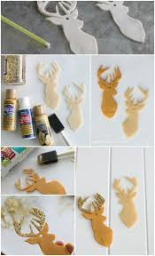 Diy Deer Christmas Decorations by Best 25 Deer Heads Ideas On Pinterest Deer Head Silhouette
