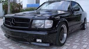 1986 mercedes 560 sec black series 1 of 4 1989 mercedes 560sec amg german cars