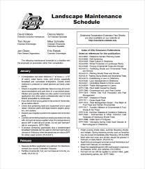 Landscape Maintenance Contract by Maintenance Schedule Template U2013 17 Free Word Excel Pdf Format