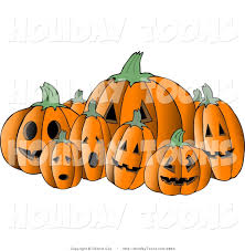 scary halloween clipart royalty free holiday clipart of seven scary halloween pumpkin