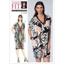 misses v neck cocoon dresses vogue sewing pattern 1496 sew essential