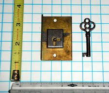 skeleton key locks for cabinets antique 19th c brass mechanical cam latch pull cabinet lock d ring
