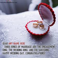 wedding wishes name rings of marriage happy wedding day