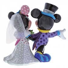 mickey and minnie wedding disney by britto mickey minnie mouse wedding figurine 4058179