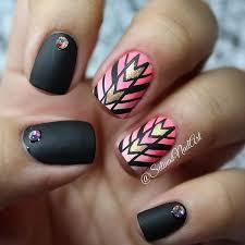 50 beautiful pink and black nail designs ombre black and nail nail