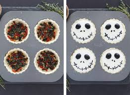 nightmare before halloween halloween jack skellington ricotta olive tarts snixy kitchen