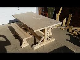How To Build A Trestle Table How To Build A Farm Table Youtube