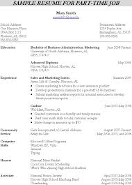 Resume For Part Time Job by Resume Writing Template Download Free U0026 Premium Templates Forms