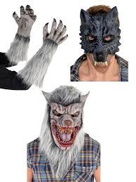 werewolf halloween costumes werewolf fancy dress wolf mask gloves latex mens teen
