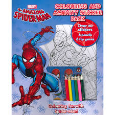 marvel amazing spider man colouring activity sticker book u0026 6