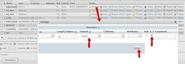 sql create table primary key autoincrement php auto increment in phpmyadmin stack overflow