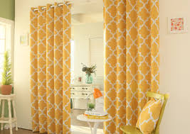 curtains commendable yellow sheer grommet curtains gorgeous