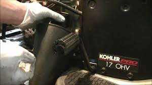how to change oil in a kohler command single cylinder engine youtube