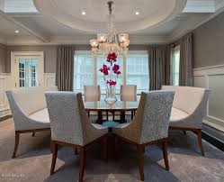 Transitional Dining Rooms Dining Room With Box Ceiling U0026 Chandelier In Cos Cob Ct Zillow