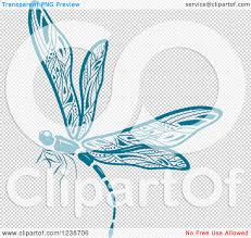 dragonfly vector clipart of a blue dragonfly royalty free