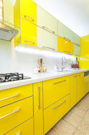 Yellow Kitchen Cabinets High Gloss And Matte Lacquered Kitchen Cabinet Doors Gallery