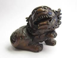 small foo dogs foo dog statue small wood carving foo dog