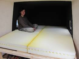 foldable foam mattresses around the world in a campervan