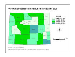 Colorado Population Map Population Map Of Wyoming Oregon Map