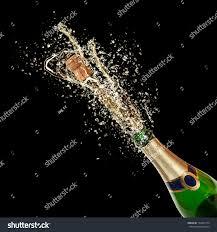 celebration theme splashing chagne isolated on stock photo