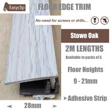 Laminate Floor Edging Trim Stowe Oak L Grey Laminate Floor Edging Trim 5x2mtr Quality
