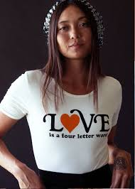 love is a 4 letter word tee by sugarhigh lovestoned u2013 black salt