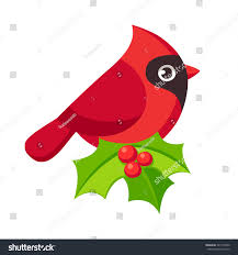 cute cartoon red cardinal bird illustration stock vector 543179500