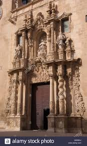 costa blanca spain alicante city baroque ornaments on church