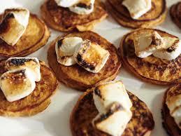 sweet potato pancakes with toasted marshmallows recipe