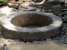 round patio stone how to build a round stone fire pit how tos diy