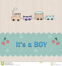 Card Shower Invitation Baby Boy Arrival Card Shower Invitation Stock Illustration Image