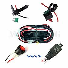 mictuning universal 12ft wiring harness for led work light bar led