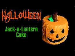 halloween jack o lantern cake youtube