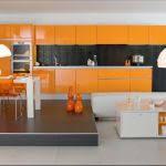 perene cuisines cuisine moderne couleur orange lune d eau par perene cuisines orange