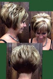 chunky short haircuts fall hilites stacked bob chunk br asymmet hair cuts