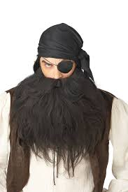 beard halloween costumes amazon com california costumes pirate beard and moustache black