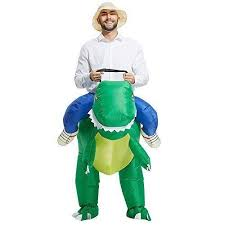 toloco inflatable dinosaur t rex fancy dress costume green