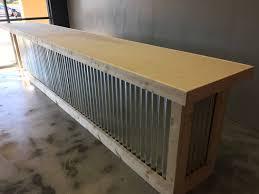 Rustic Reception Desk The Vapor 16 U0027 Corrugated Metal Rustic Or Industrial Sales